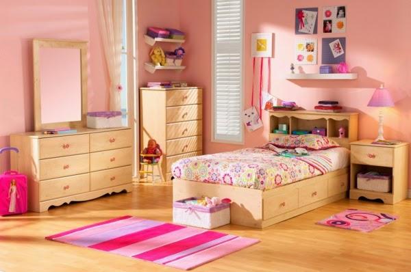 Dormitorios de ni as en color rosa dormitorios colores y for Muebles dormitorio nina