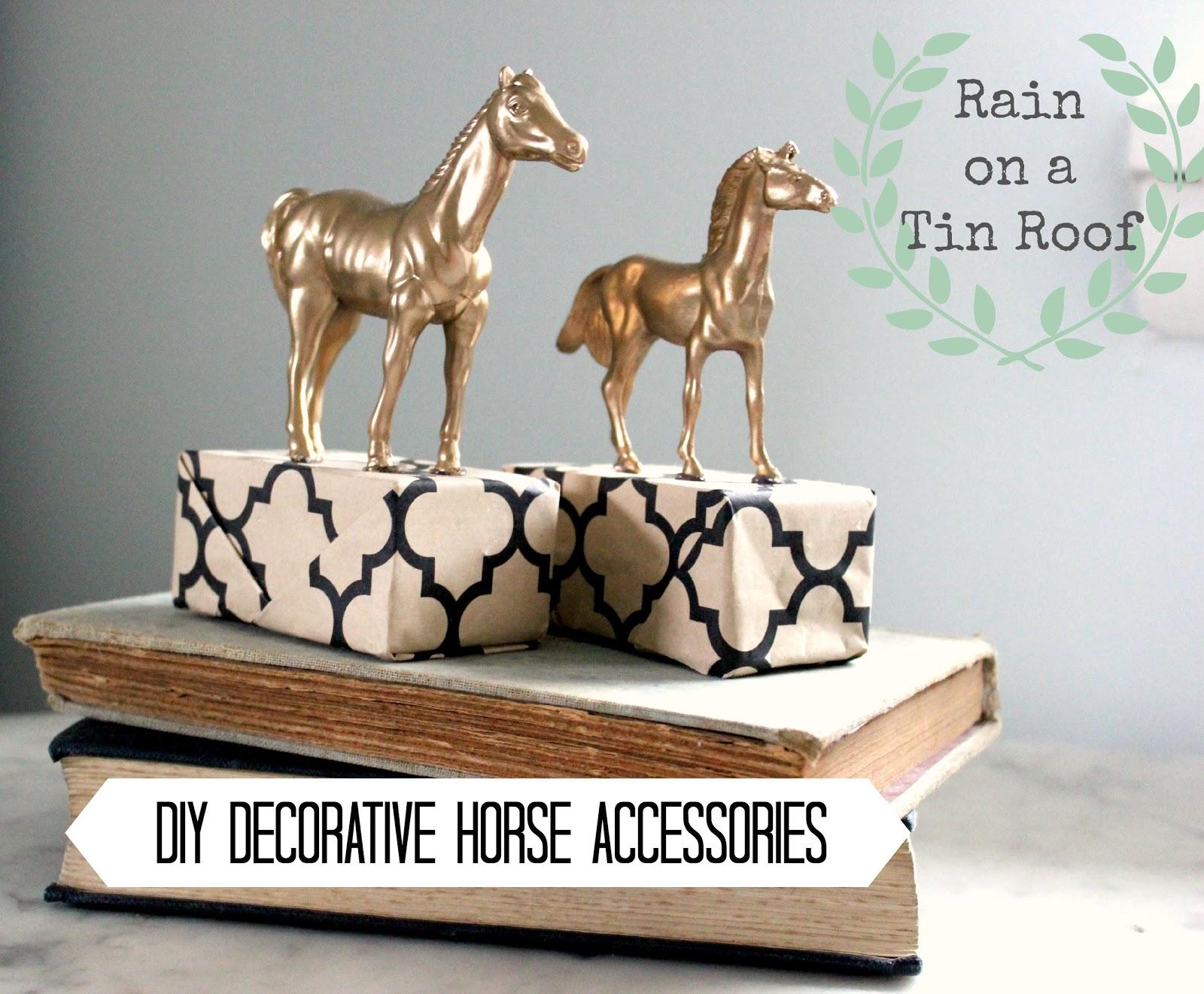 DIY Decorative Horse Accessories {rainonatinroof.com} #DIY #horse  #accessories #