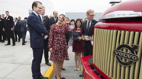 Crown Princess Victoria of Sweden and Prince Daniel visit Lima for an official visit to Peru on October 20, 2015. Crown Princess Victoria and Prince Daniel have started their second day in Lima