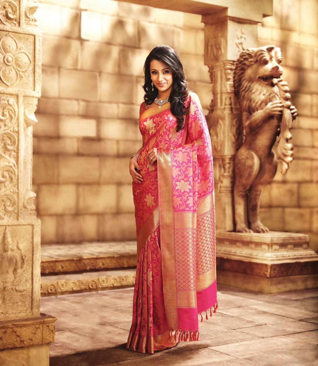 Actress Trisha In Wedding Silk Sarees From Pothis