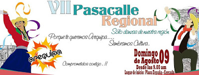 Pasacalle regional Arequipa 2015