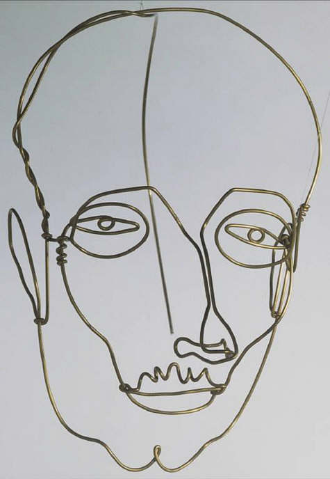 Contour Line Drawing With Wire : My sense of space december