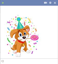 Party Puppy Emoticon