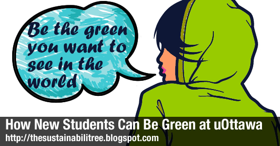 cartoon girl telling people to be green
