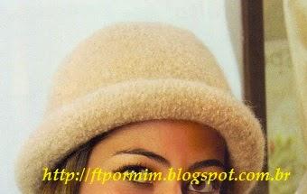 chapéu de tricô feltrado