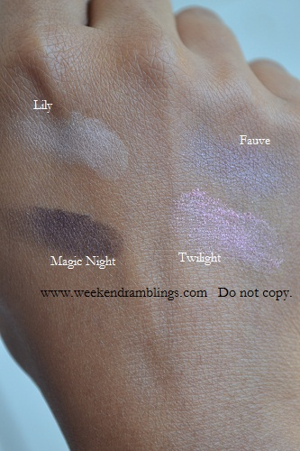 chanel single eyeshadows ombre essentielle soft touch swatches twilight lily magic night fauve sophisticated eye collection
