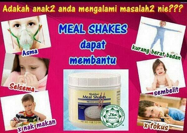 Meal Shakes Utk Tumbesaran Anak-anak
