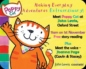 Poppy cat invite