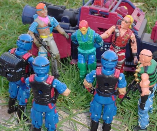 1992 Ace, Air Commandos, 1986 Zandar, Thunder Machine 2006 Viper Pit, 2004 Convention Exclusive Demolishor, Dreaknock, Buzzer