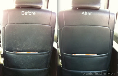 Carat All Natural Leather Care - before and after