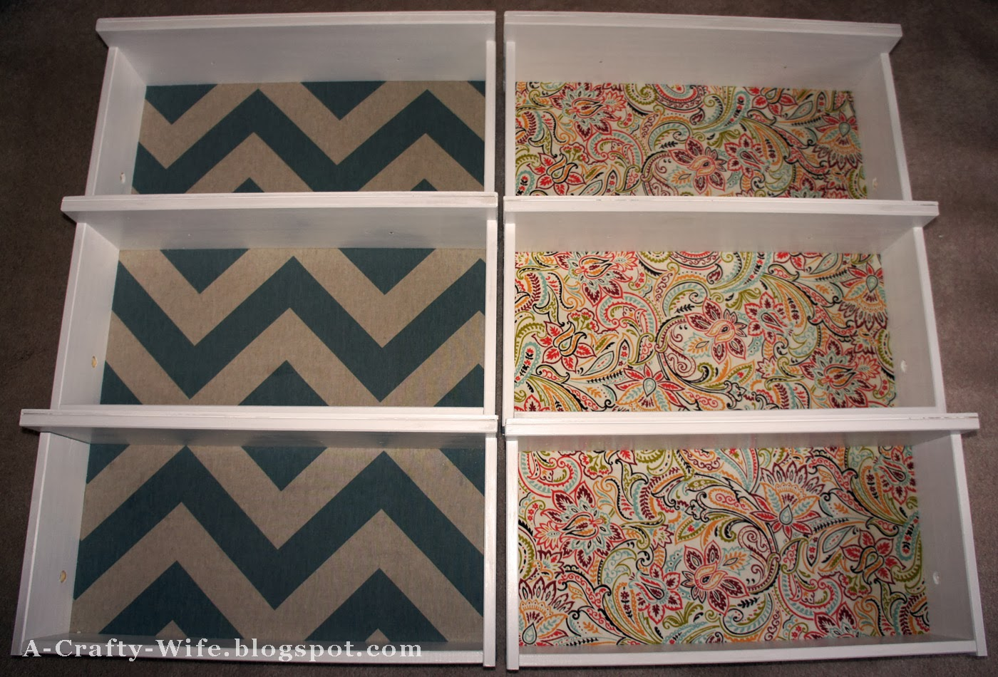 Fabric covered drawer bottoms for Ikea Rast Hack | A Crafty Wife