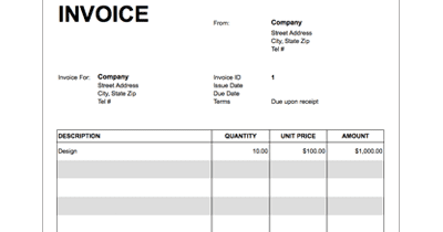 google docs invoice template free invoice template for google docs. Black Bedroom Furniture Sets. Home Design Ideas