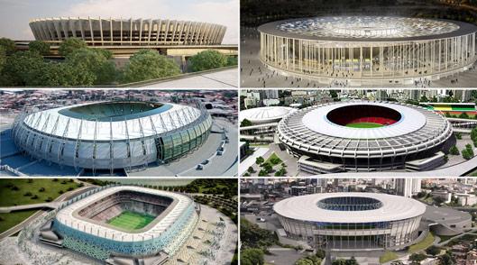 As cidades de Belo Horizonte, Brasília, Fortaleza, Recife, Rio de Janeiro e Salvador estão confirmadas na Copa das Confederações em 2013