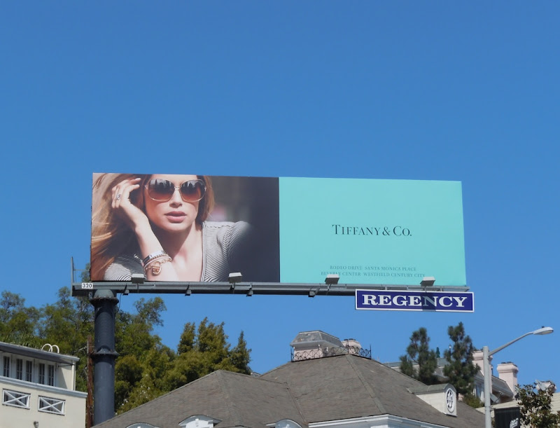 Tiffany sunglasses billboard
