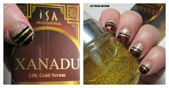 nailart inspired by ISA Professional 24k Gold Serum