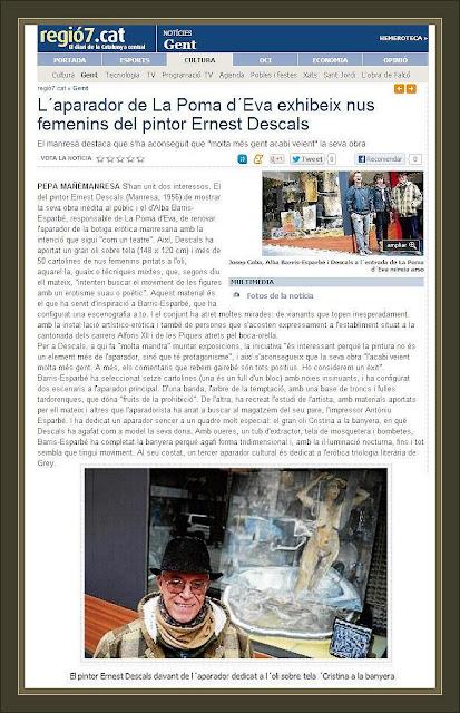 ERNEST DESCALS-PINTURA EROTICA-EXPOSICIO-POMA D`EVA-EROTISME-MANRESA-REGIO7