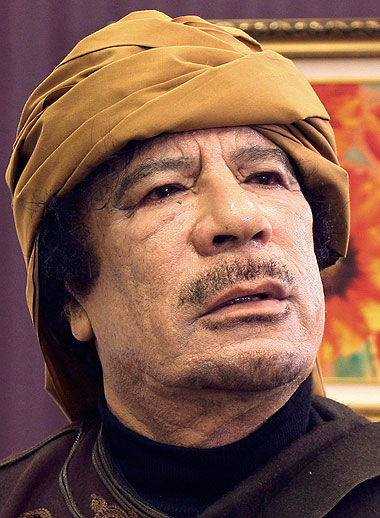 MUAMMAR GADHAFI, AWAITING THE NO FLY ZONE?