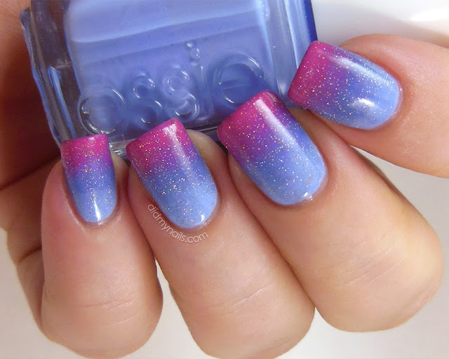 Sleeping Beauty gradient nails with Fairy Dust