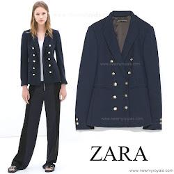 Kete Middleton Style ZARA Blazer and ME+EM Breton Top