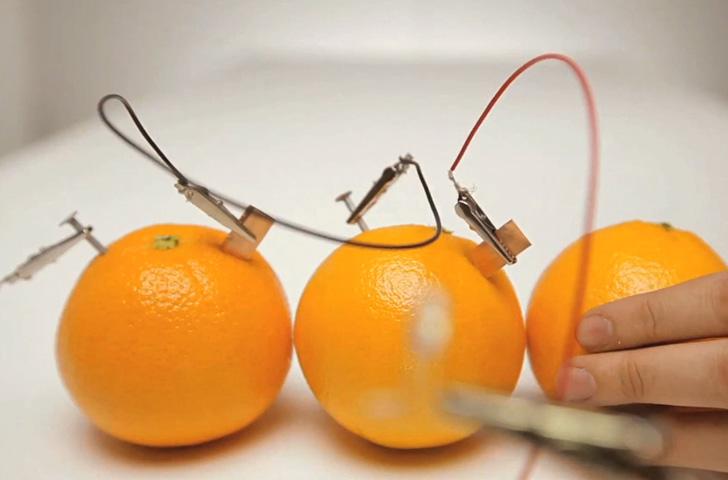 Orange Powered Light Bulb
