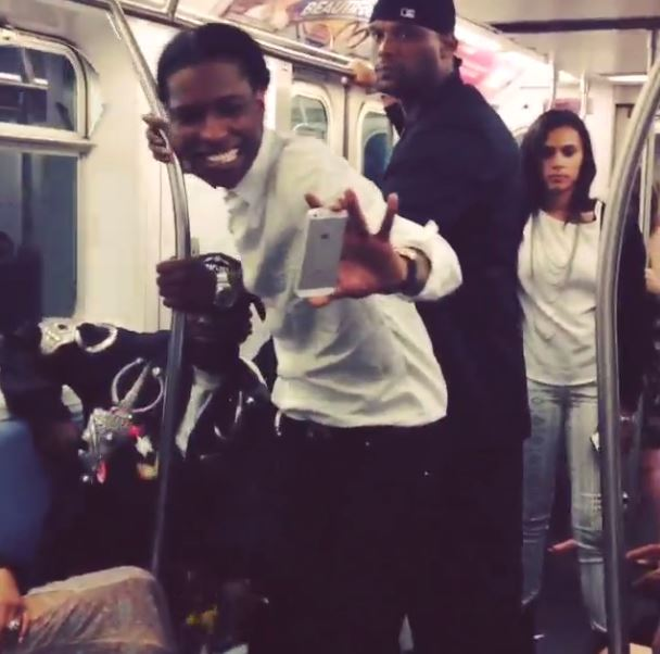 A$AP Rocky on the 2 train