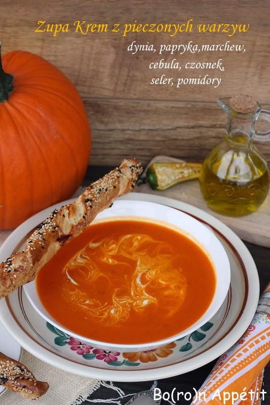 Przepis na zupę z pieczonych warzyw