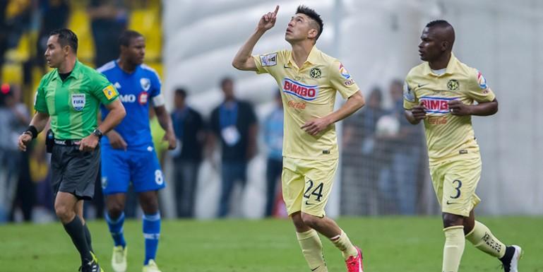 Final de ida de la CONCACAF Liga de Campeones 2015 entre el club América de México y el Impact de Montreal de Canadá. Ignacio Piatti abrió el marcador al 16', y Oribe Peralta lo empató al 88' | Ximinia