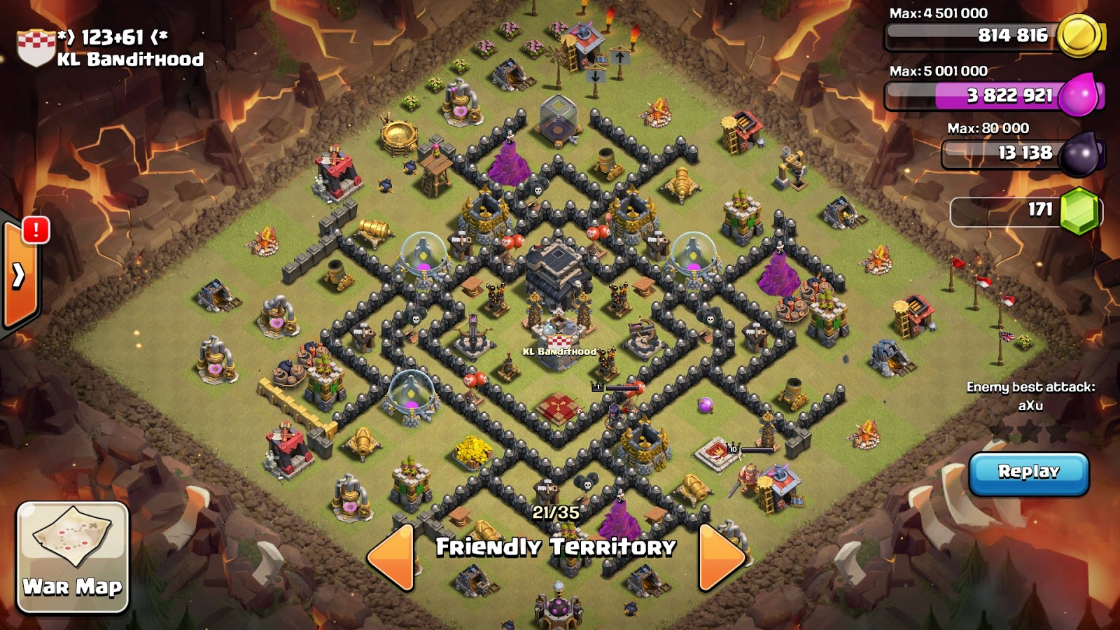 Th7 th8 th9 war base with anti hogs characteristic