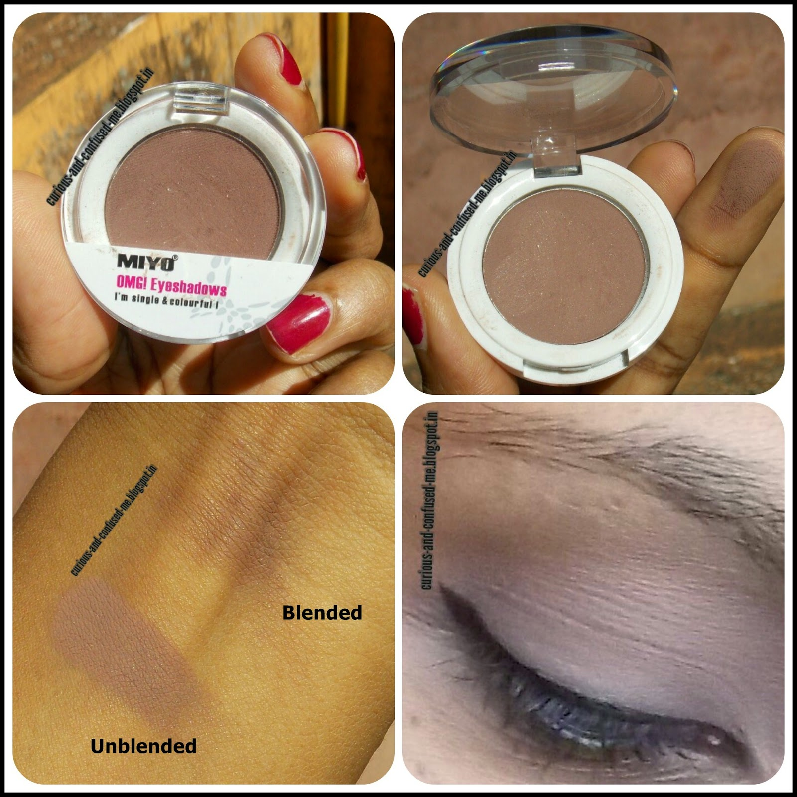 Miyo 7- Chocolate Single Eyeshadows , Miyo 7- Chocolate Single Eyeshadows Omg review, Miyo 7- Chocolate Single Eyeshadows Omg swatch, Miyo Single eyeshadow review OMG, Best brown eyeshadow India, Brown eyeshadow India, Budget brown eyeshadow.