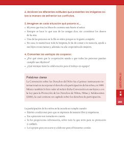 Importancia de la participación infantil en asuntos colectivos - Formación Cívica y Ética Bloque 5to 2014-2015