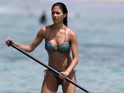 Nicole Scherzinger in bikini swimwear