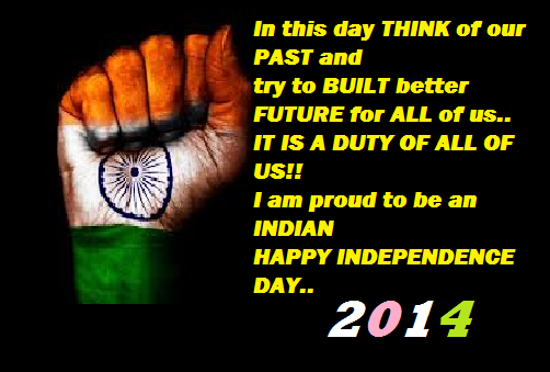 Happy Independence Day 2014 Greetings - 15th August Wallpaper , independence day quotes, independence day photos, independence day pictures , happy independence day 2014 wallpaper, cute 15th august wallpaper, cute greeting card on 15th august