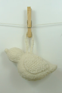 knit felted dove