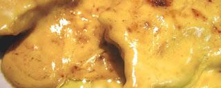Pollo en salsa miel mostaza