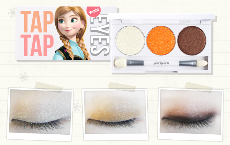 Frozen Anna Makeup using Peripera Tap Tap Eyes Palette