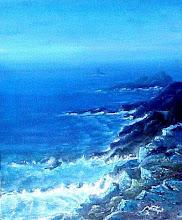 Marine I - Camaieu bleu -  Inspiration Pointe du Raz - Bretagne - Francia - Jicé