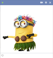 Hula minion emoticon
