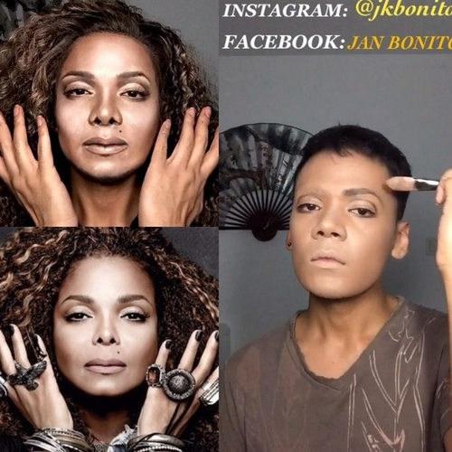09-Janet-Jackson-Jan-Bonito-Body-Painting-Human-Chameleon-Mimics-Celebrities-www-designstack-co
