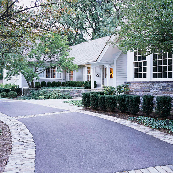 New home interior design ways to add curb appeal for Can i paint asphalt driveway