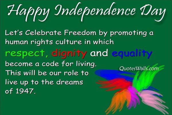 Independence Day SMS 140 Words with Picture