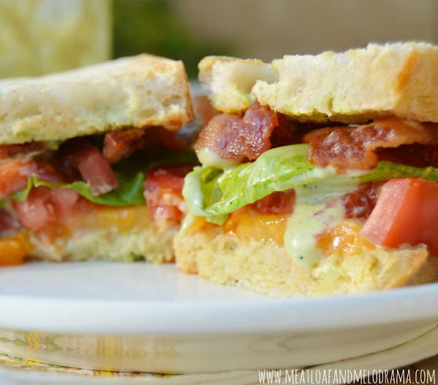 BLT Sandwiches With Candied Bacon, Lettuce, And Tomato Jam Recipes ...