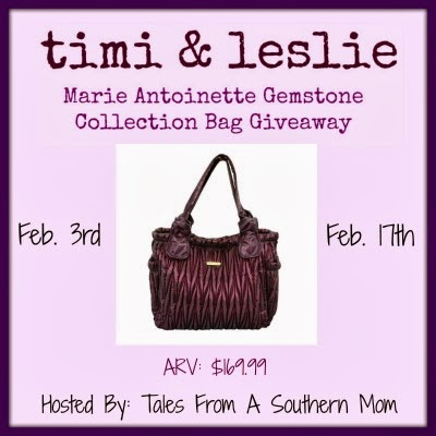 Enter to win the Timi and Leslie Diaper Bag Giveaway. Ends 2/17