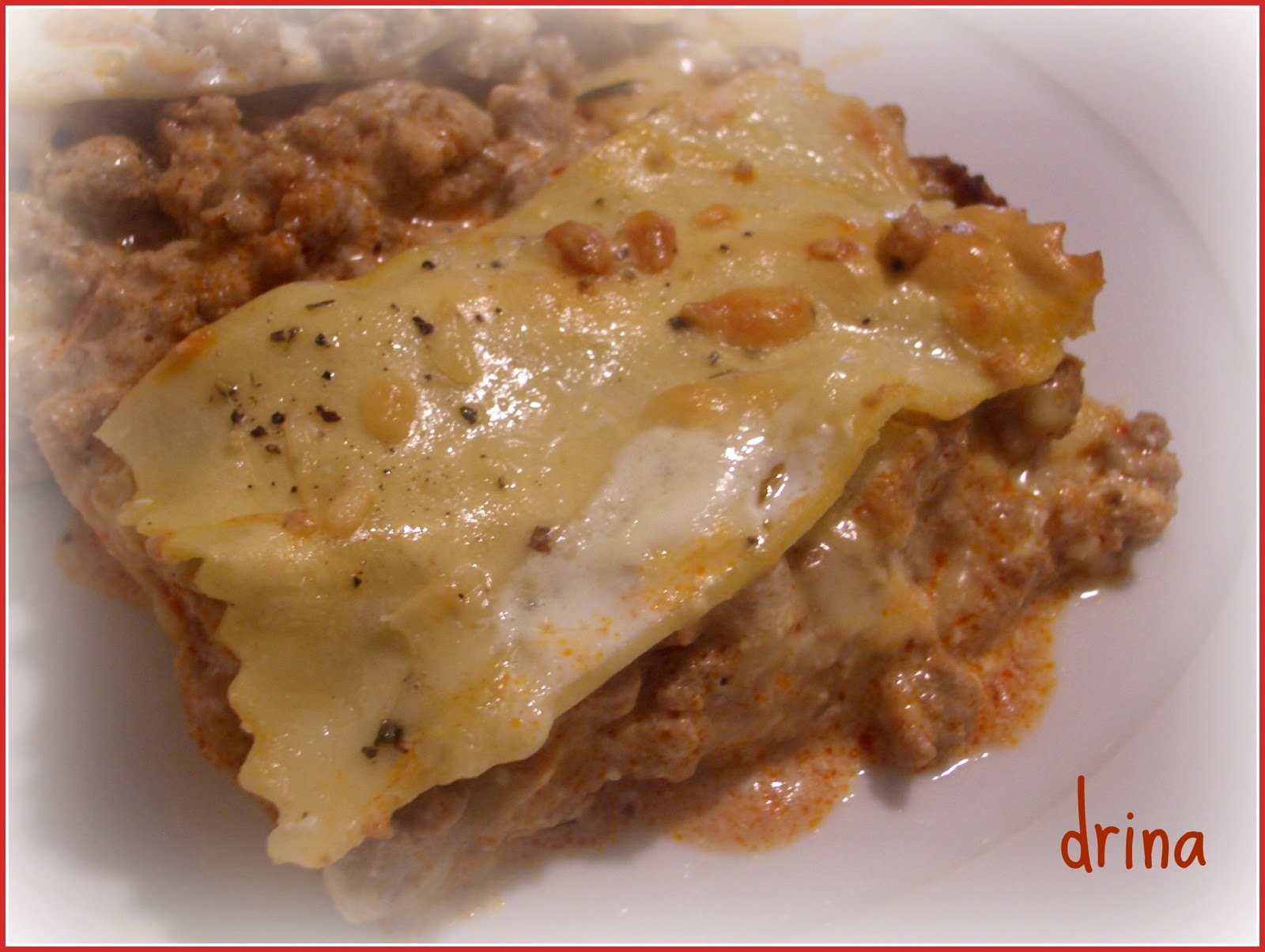 Cocinacharm lasa a de carne sin bechamel - Bechamel con nata para cocinar ...