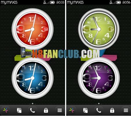 Great clock widgets for nokia n8 & other belle smartphones - widget download.