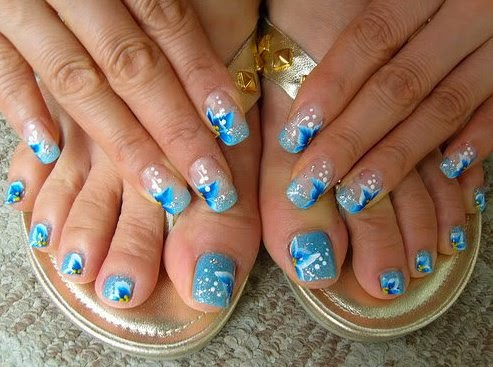 U as decoradas decoracion de u as dise os de u as - Unas azules decoradas ...