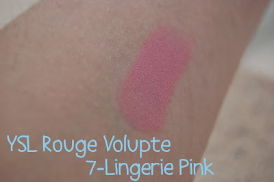 Rouge Volupte Yves Saint Laurent pink lingerie