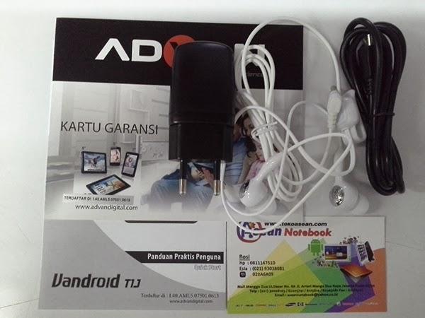 Paket dalam kotak pembelian Tablet Vandroid T1J bisa diliat pada ...