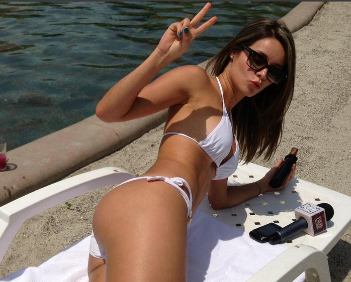 en piscina con Alejandra Buitrago