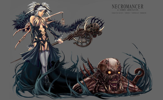 Necromancer-Summon Abomination por LoneWolf64