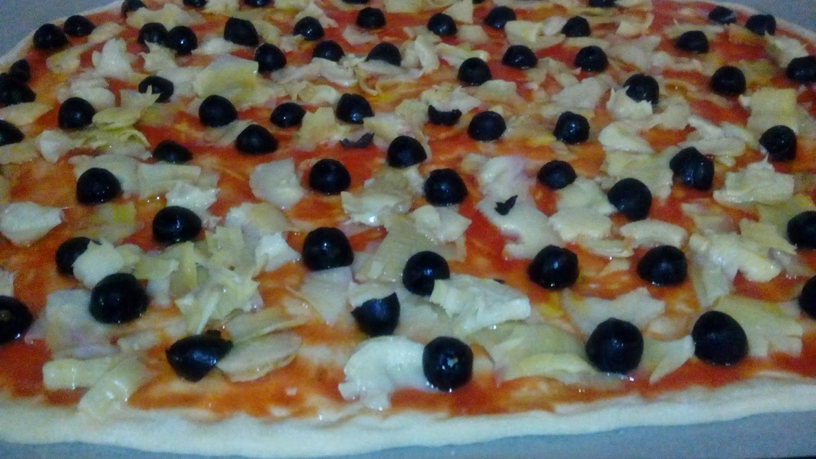 PIZZA OLIVE E CARCIOFI DORITA